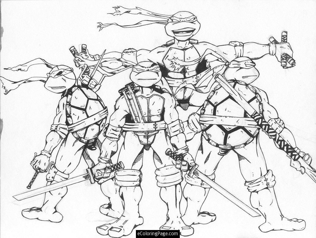 Free coloring pages of ninja turtles - Teenage Mutant Ninja Turtles Coloring Page
