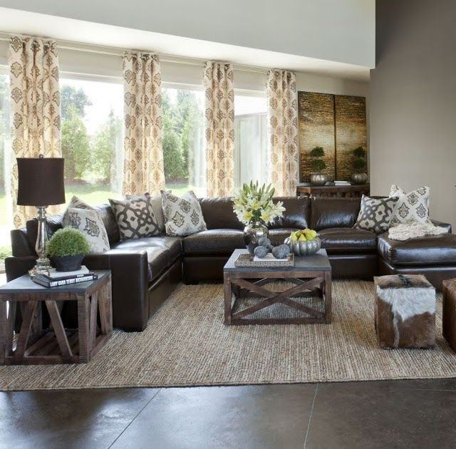 10 Creative Methods To Decorate Along With Brown Living Living Room Ins Leather Couches Living Room Dark Furniture Living Room Brown Leather Couch Living Room