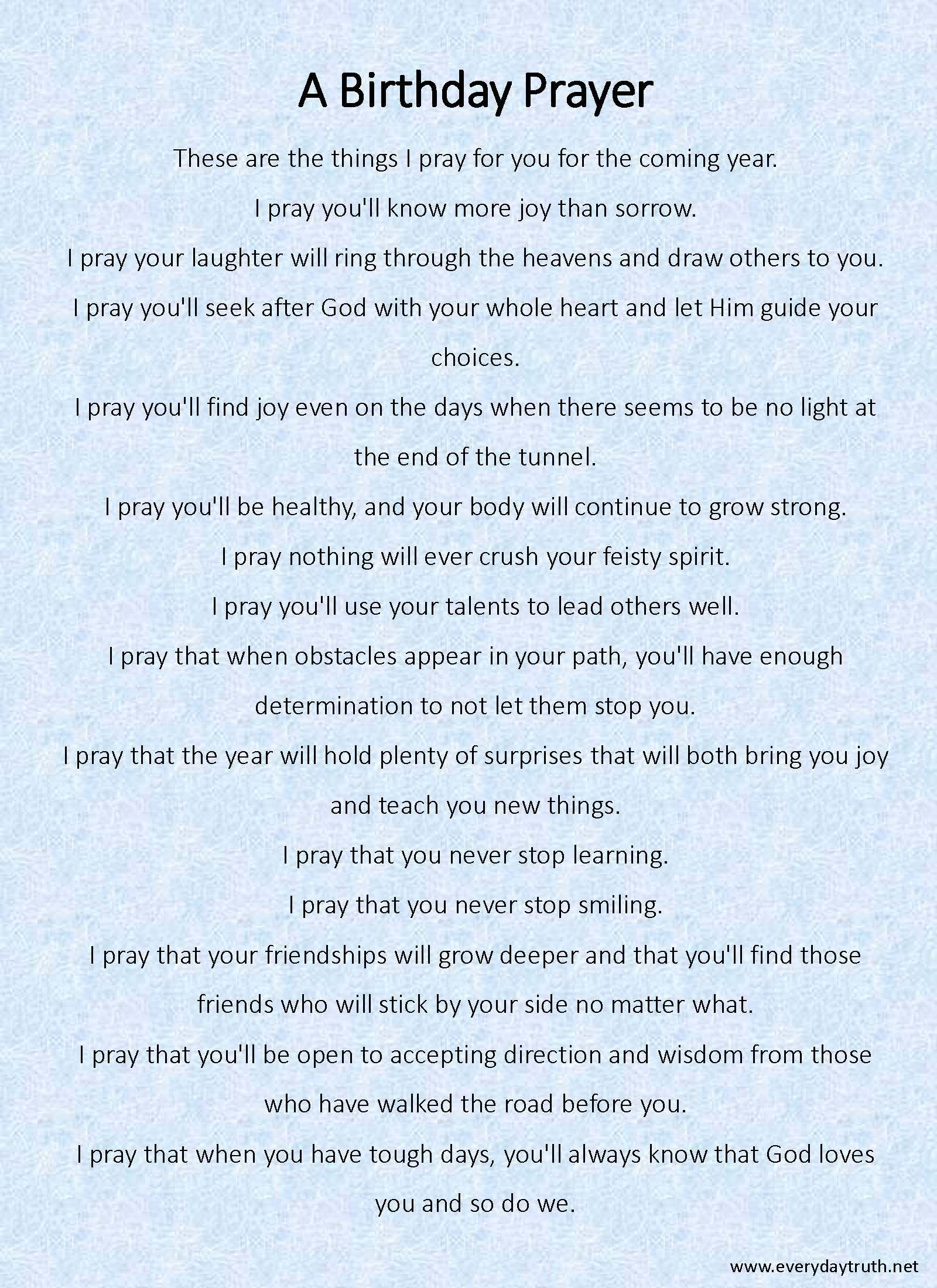 a birthday prayer from everyday truth she writes her children a birthday prayer each year what a great idea