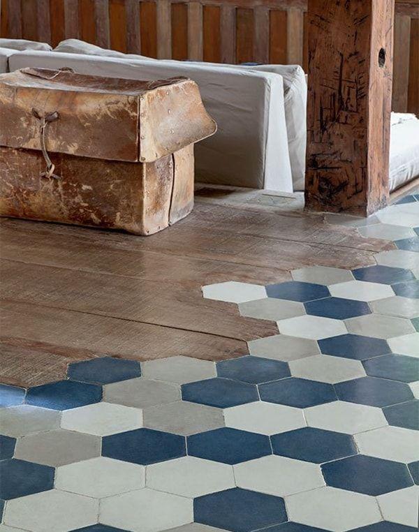La belleza de los suelos hidr ulicos hexagonales baldosa for Baldosas para pisos interiores
