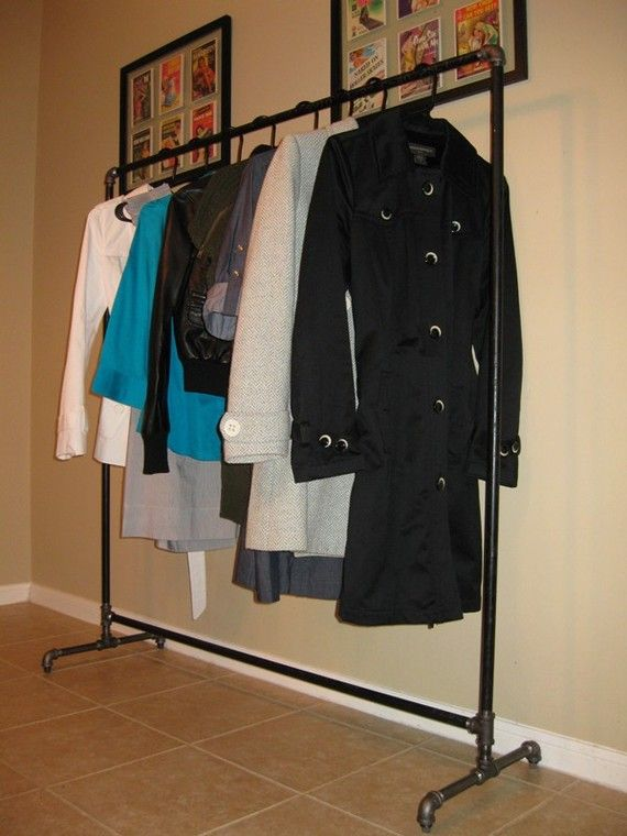 Black Iron Clothing Rack