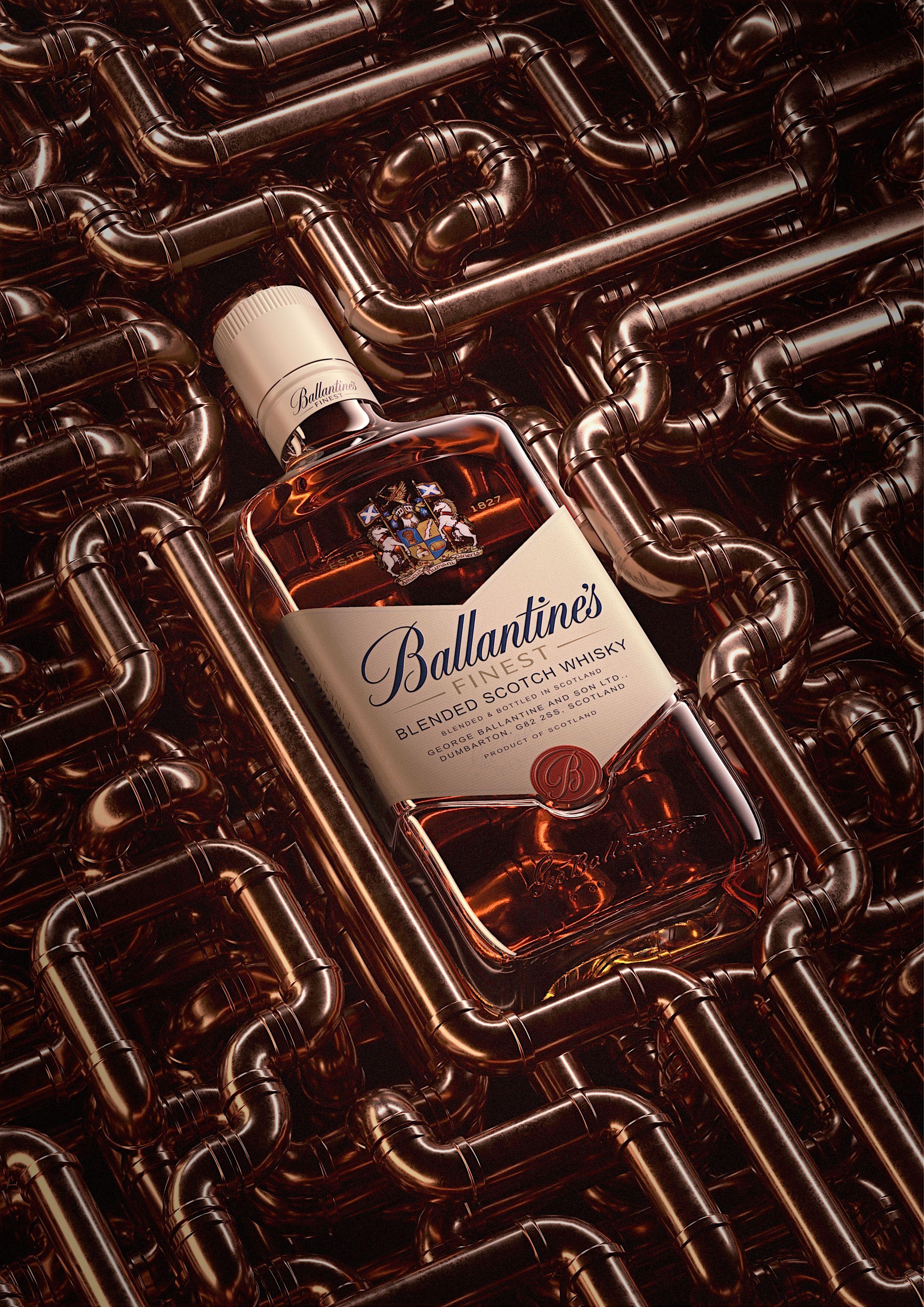Personnal Project About Ballantine S Bottle Packshot Ballantines
