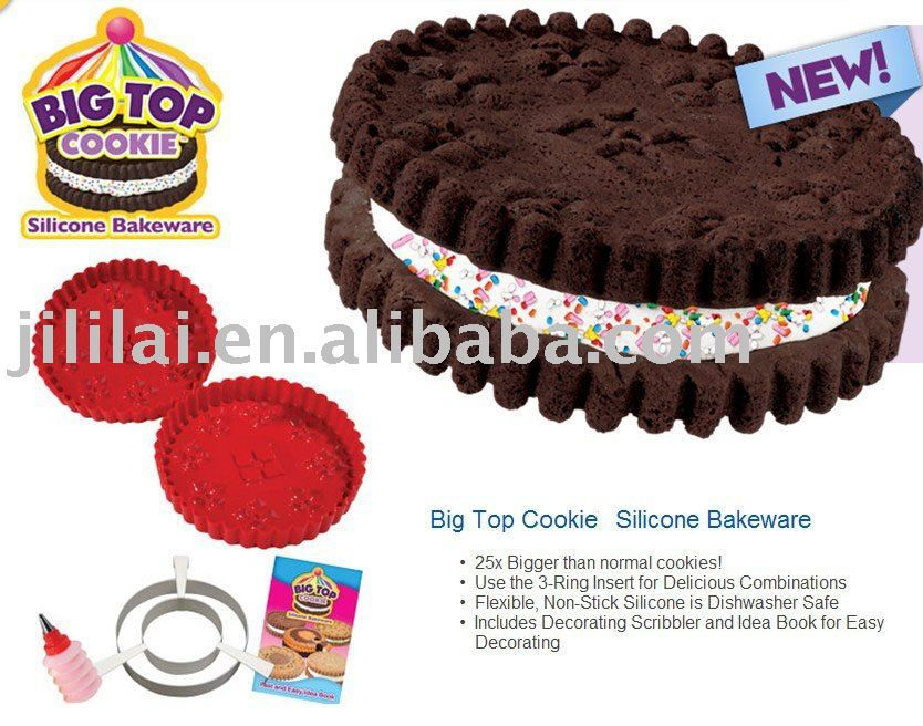 Big Top Cookie Silicone Bakeware Set 3 2 3 55 Silicone