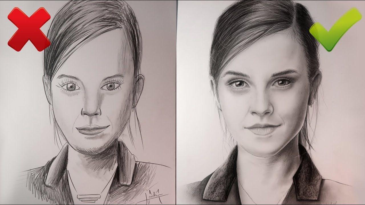 Dessiner Un Visage Réaliste Correct Et Incorrect Tuto Youtube Dessin Visage Comment Dessiner Un Portrait Comment Dessiner Un Visage