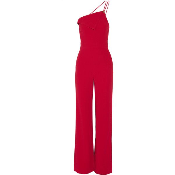 one-shoulder flared jumpsuit - Pink & Purple Cushnie et Ochs Particular Discount Free Shipping Low Price Fee Shipping Official Site Largest Supplier Sale Online Fashionable fRpquU