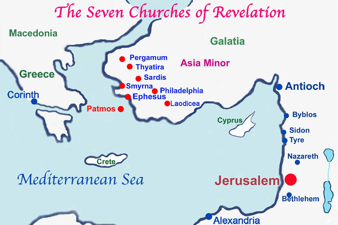 The Seven Churches Of Revelation Were 7 Actual Churches In Asia