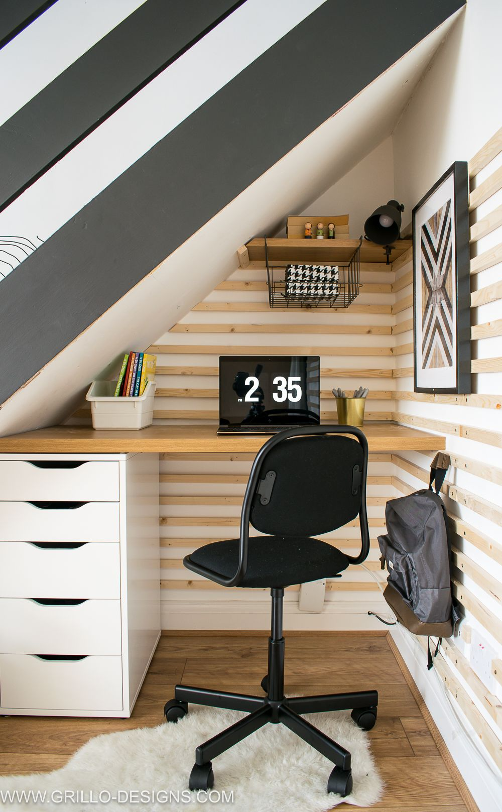 Diy Under Stairs Homework Station With Ikea Diy Home Office