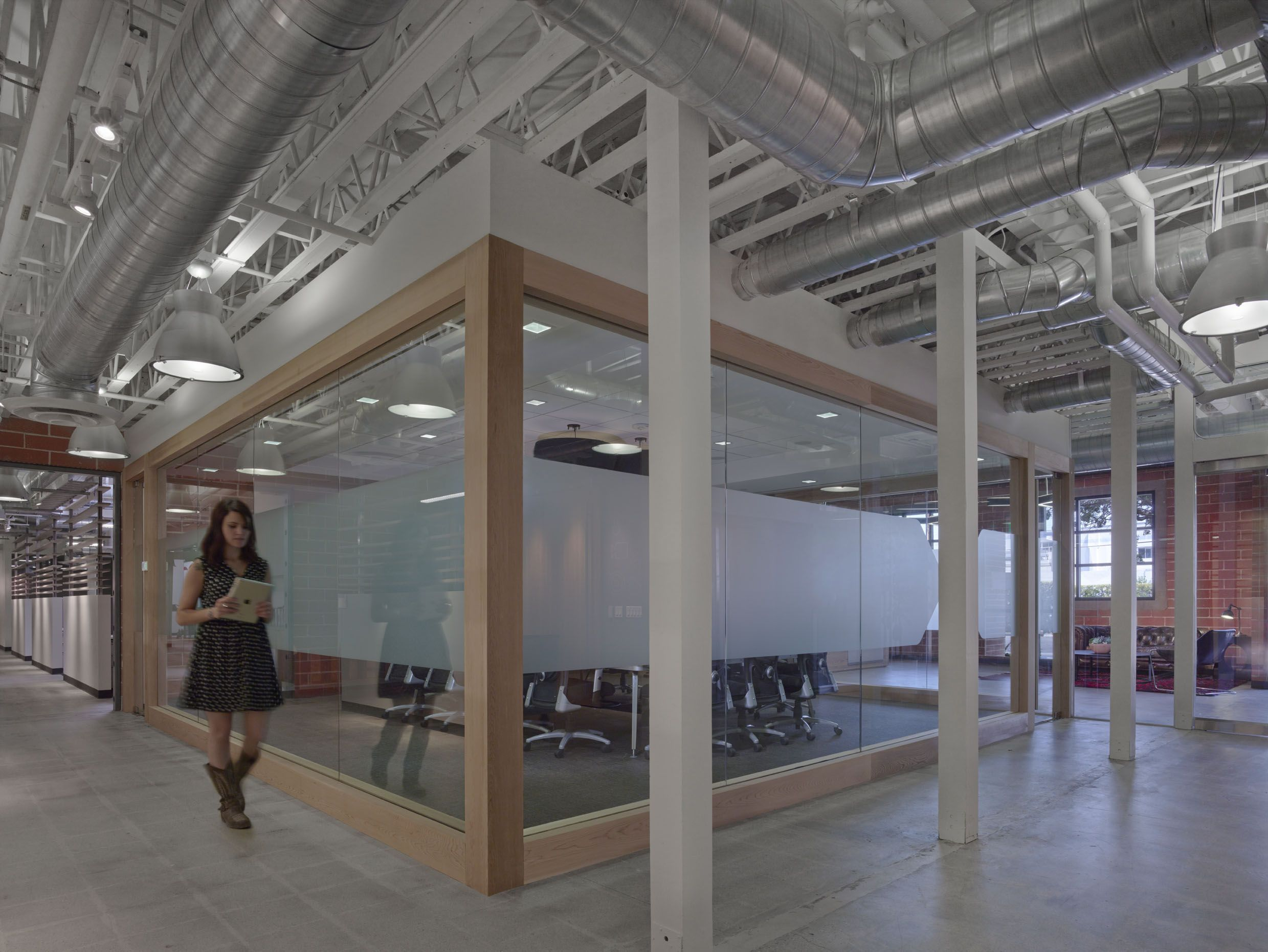 office industrial. division btw two spaces demand media creative design office industrial
