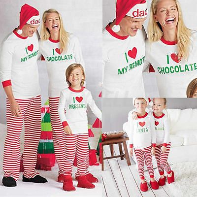 New Children Adult Family Matching Christmas Pajamas ...