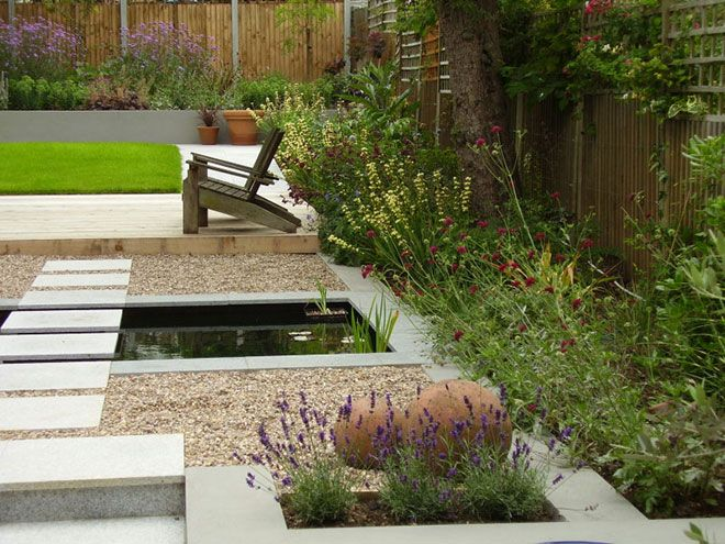 relaxing contemporary garden design