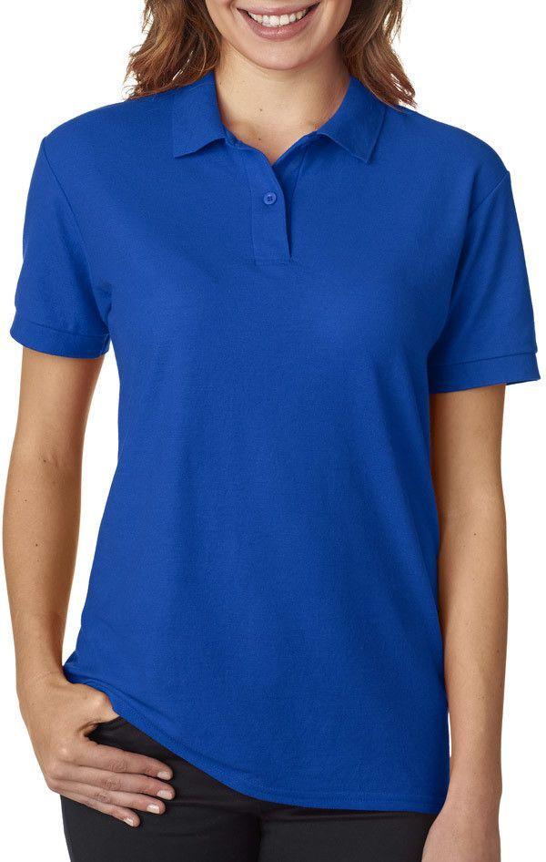 royal blue polo shirt womens