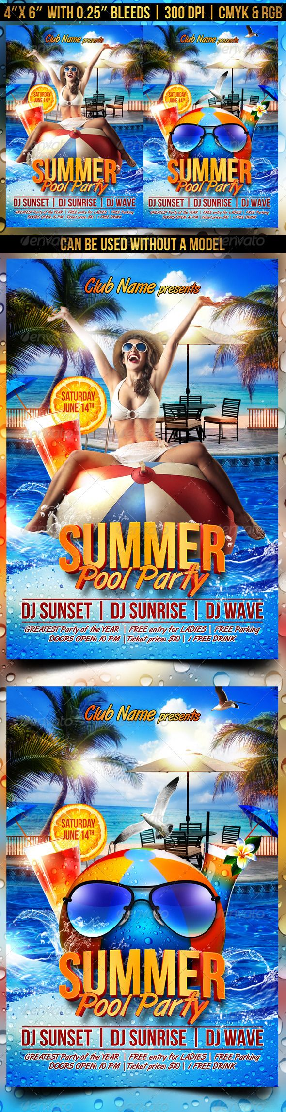 summer pool party flyer party events flyer template and pools summer pool party flyer template psd buy and graphicriver