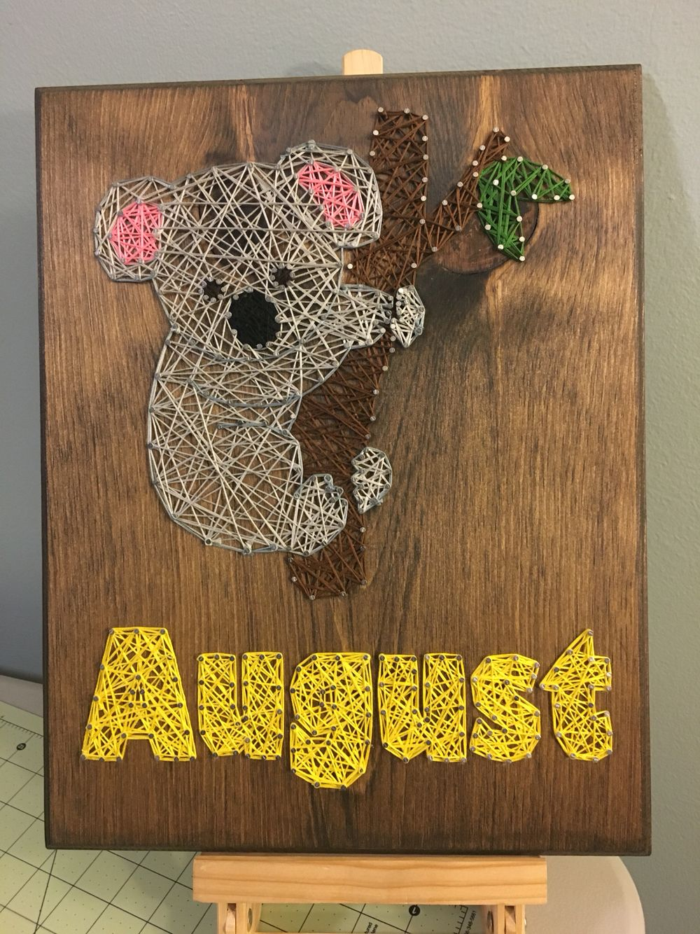 Custom koala string art Custom koala string