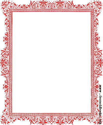 Victorian Page Border Borders For Paper And Frames Free