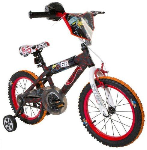 Kids Bicycles Hot Wheels Boys 16inch Bike Blackredorange