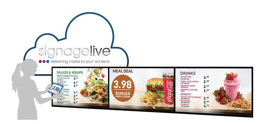 Signagelive presents its Food Service Manager digital menu board application at TakeawayExpo 2013