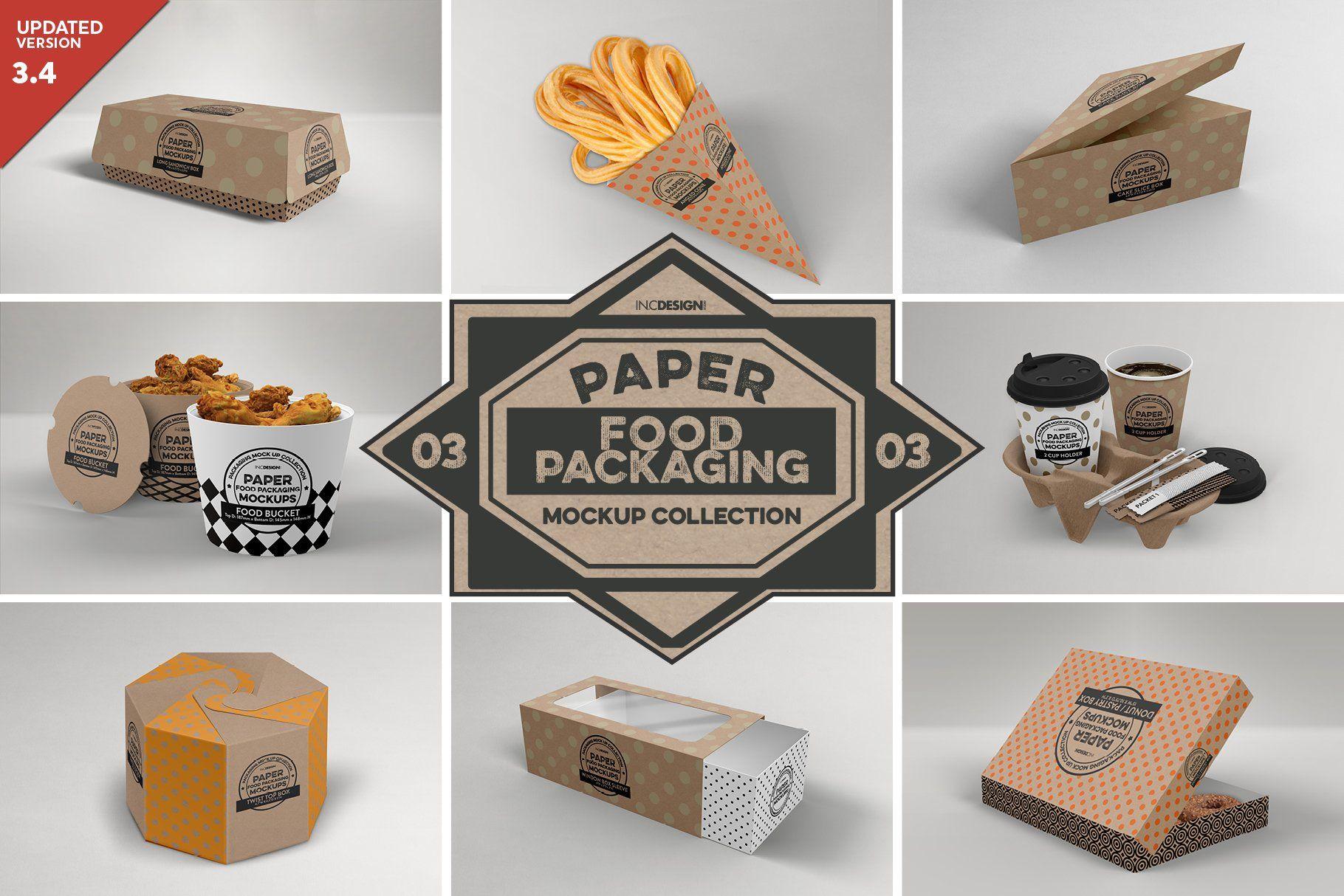 Vol 3 Food Box Packaging Mockups Food Box Packaging Packaging Mockup Design Mockup Free