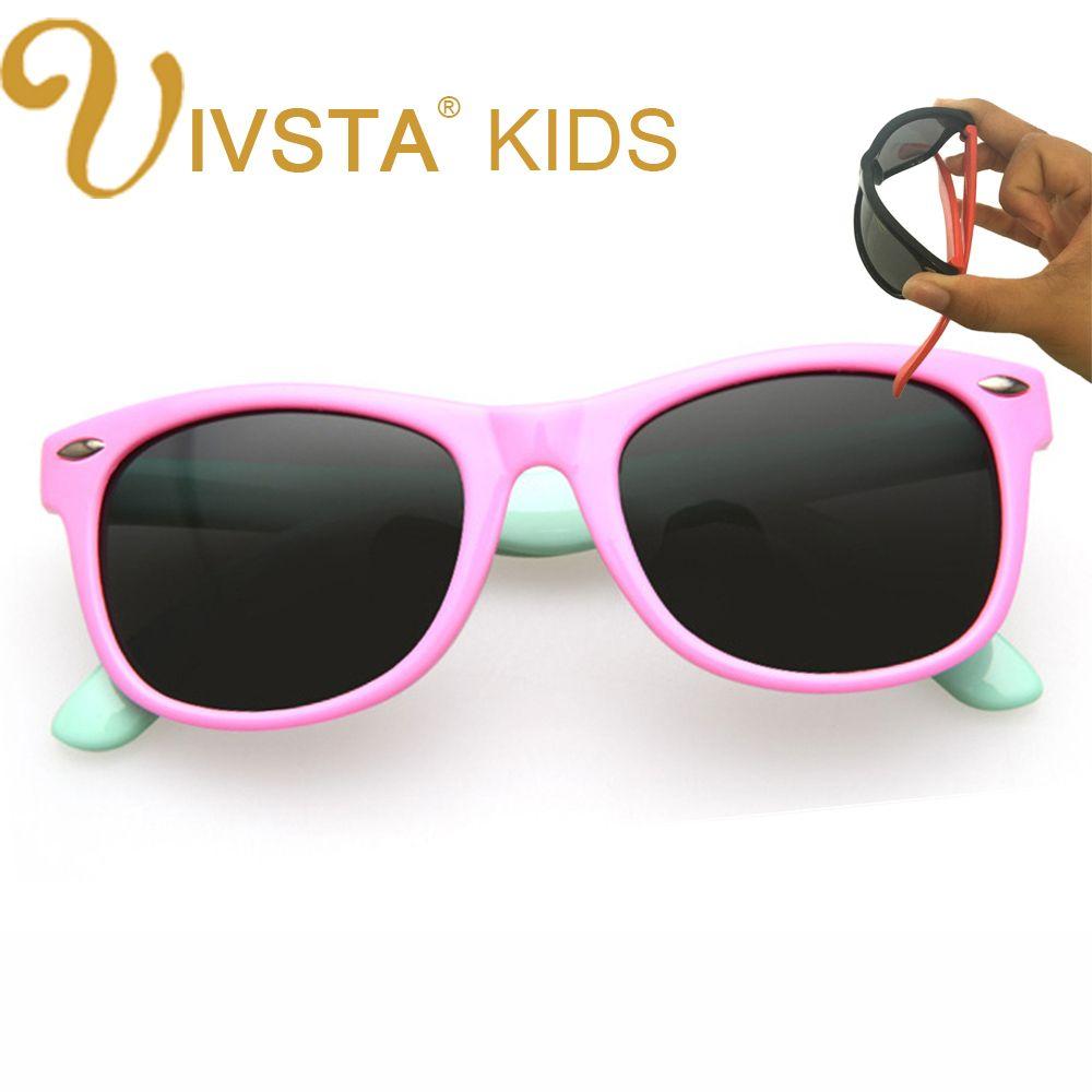 cc9da941f6 IVSTA Girls Sunglasses Kids Sunglasses Children Glasses Polarized Lenses  Girls Boys TR90 Silicone UV400 Child Mirror Baby 802