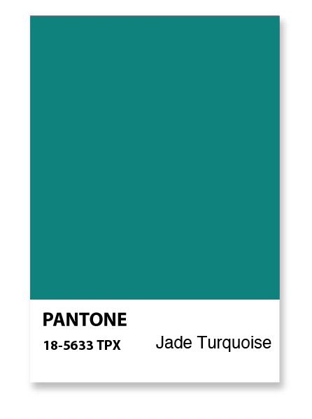 Pantone Jade Green Color Turquoise Blue Painting