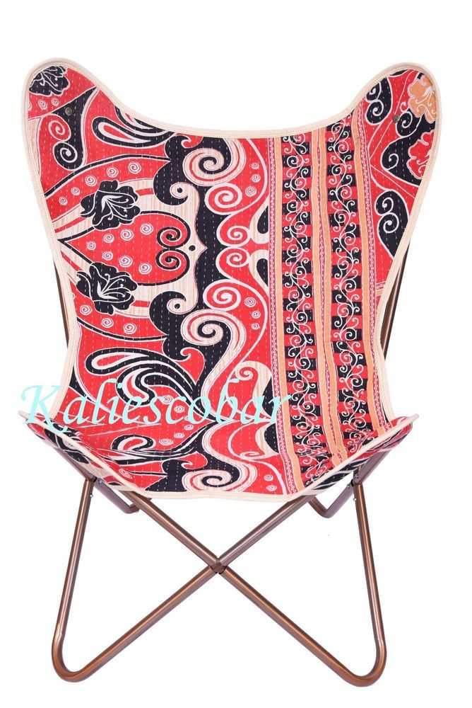 Vintage Hardoy Butterfly Chair Cover Kantha Cotton Outdoor Garden Chair  Cover