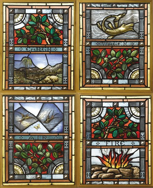 Four American Stained Glass Windows Unknown maker, American Lot