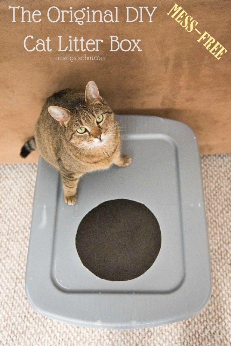 The Original DIY Mess Free Cat Litter Box Cat litter box