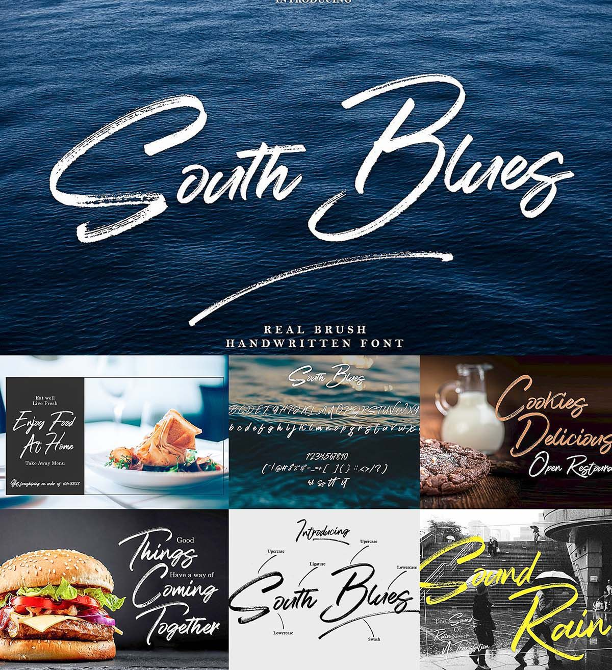 South Blues Brush Font Brush Font Free Fonts Download