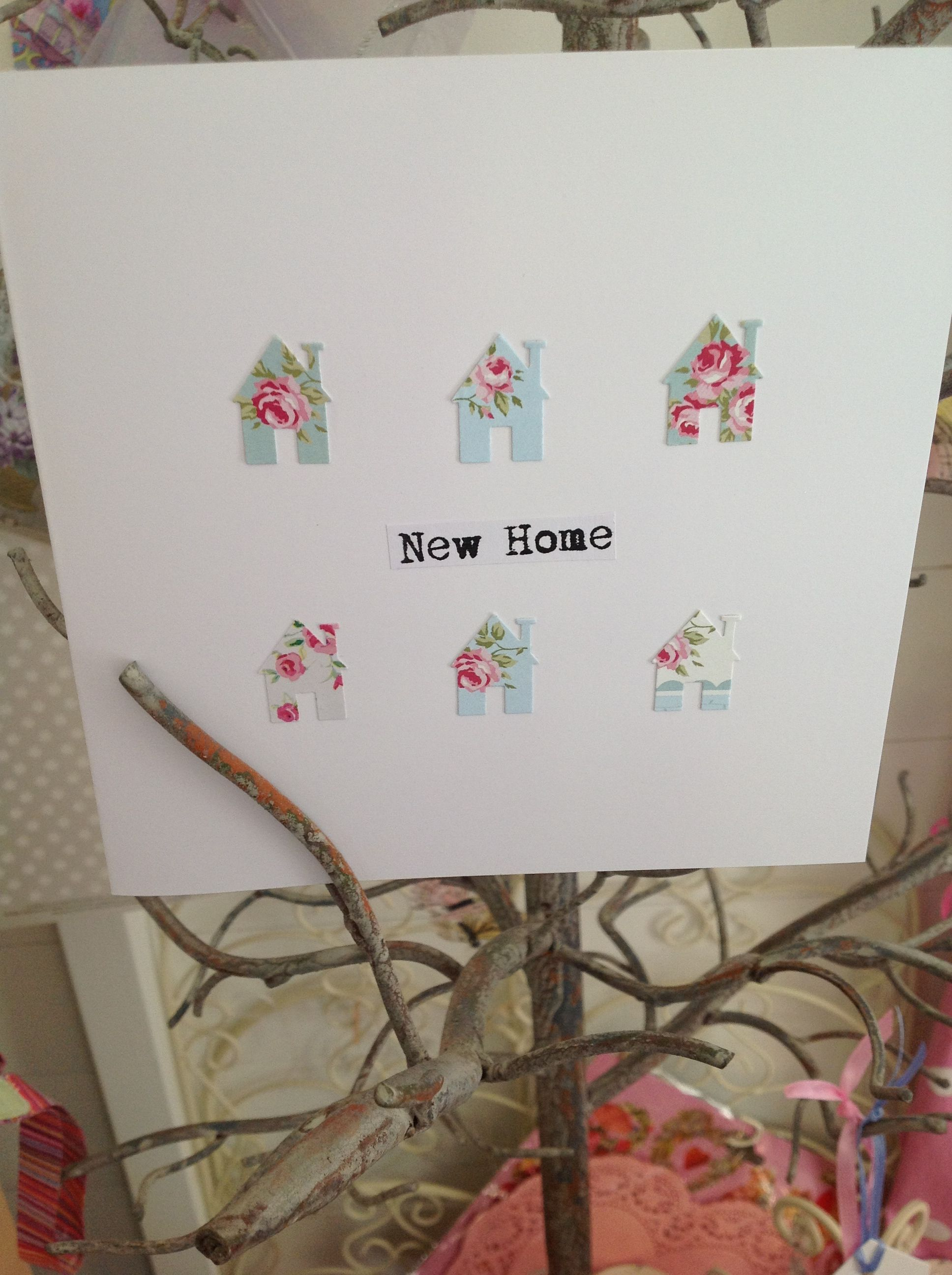 Vintage new home card   Cards   Pinterest   Cards, Vintage and Card ...