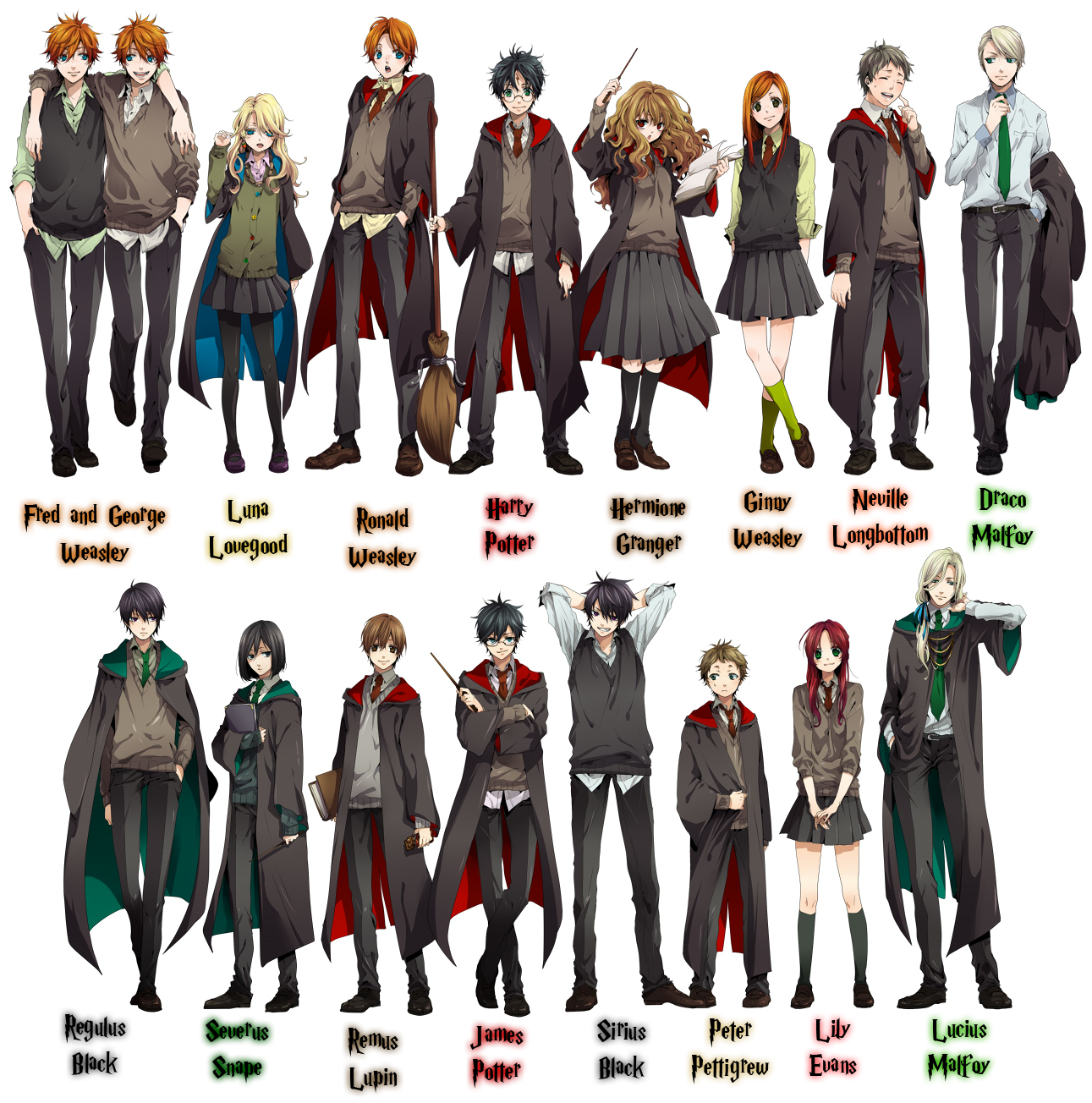 This Harry Potter Art Makes Us Long For An Animated Series Harry Potter Anime Harry Potter Characters Harry Potter Sirius