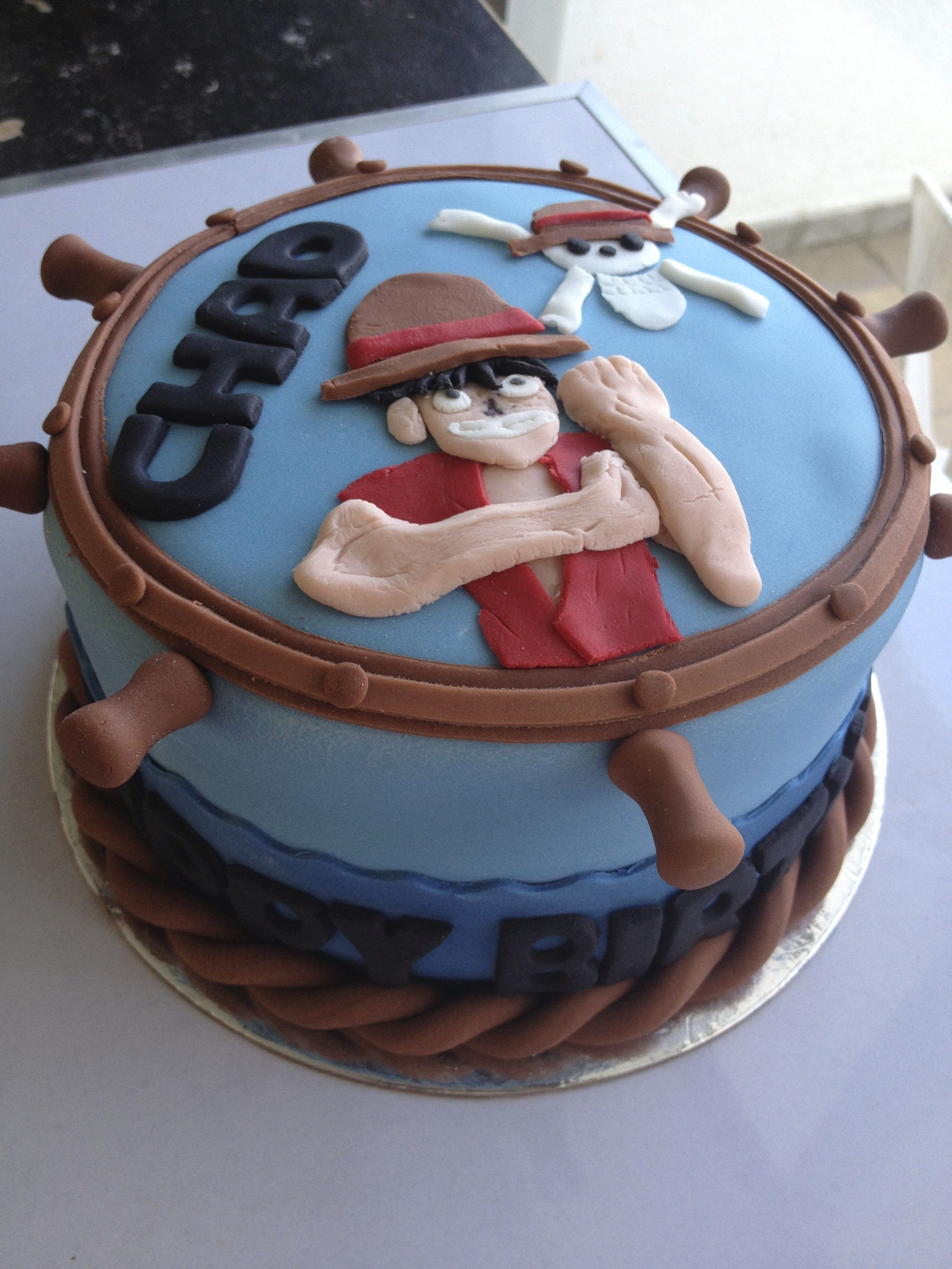 Luffy One Piece Cake Belle S Sweet Treats In 2019 Pinterest