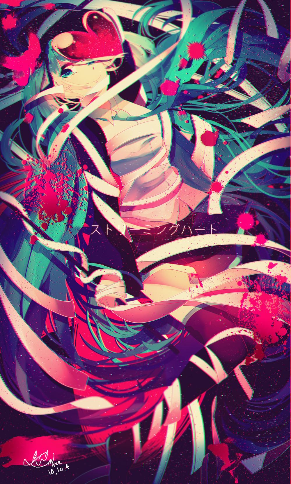 Streaming Heart Hatsune Miku Vocaloid Songs Pinterest