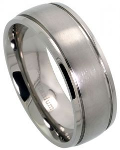 Mens Comfort Fit Titanium Wedding Band 8mm Matte Finish If I Ever Get Gay Married