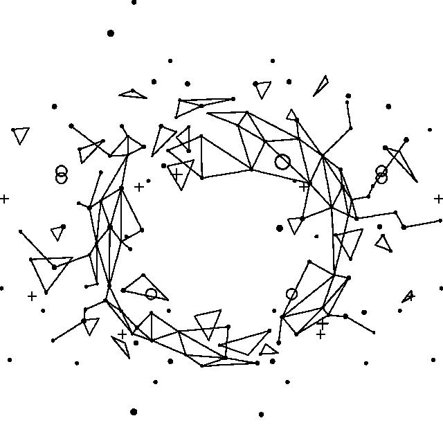 2019 的 Abstract Geometric Line With Triangle And Vector