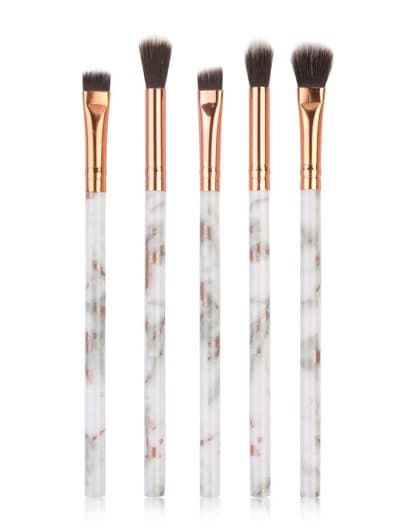 5 Pcs Soft Hair Marble Handles Eye Makeup Brush Set  a79eead86