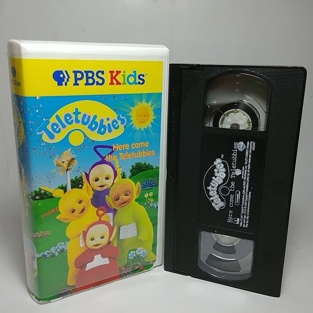 Teletubbies Here Come The Teletubbies VHS Tape 1998 Clean