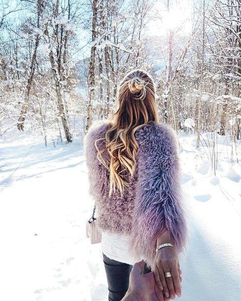 Jeans: tumblr pink jacket fur jacket fuzzy jacket sweater ...