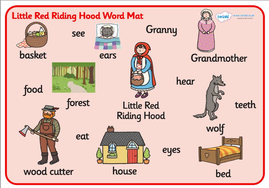 Story LITTLE RED RIDING HOOD Little red riding hood