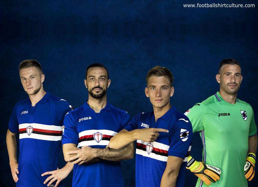 a00d85e5b Sampdoria 2017-18 Joma Home Kit