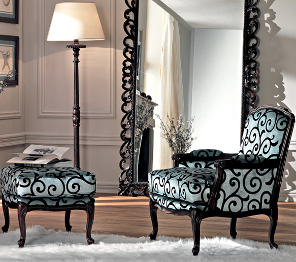 Dramatic Chair And Ottoman