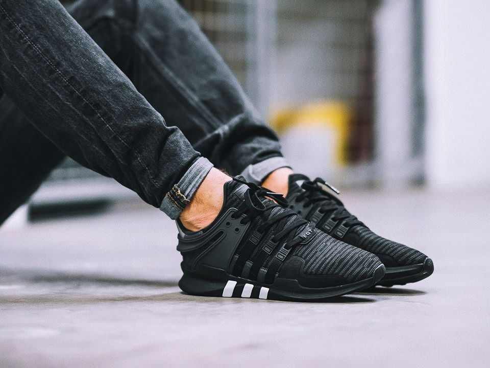 UA Adidas EQT 93/17 Boost All Black