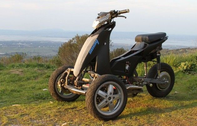 3 Wheel Electric Hunting Scooter On 3 Wheel Electric Street