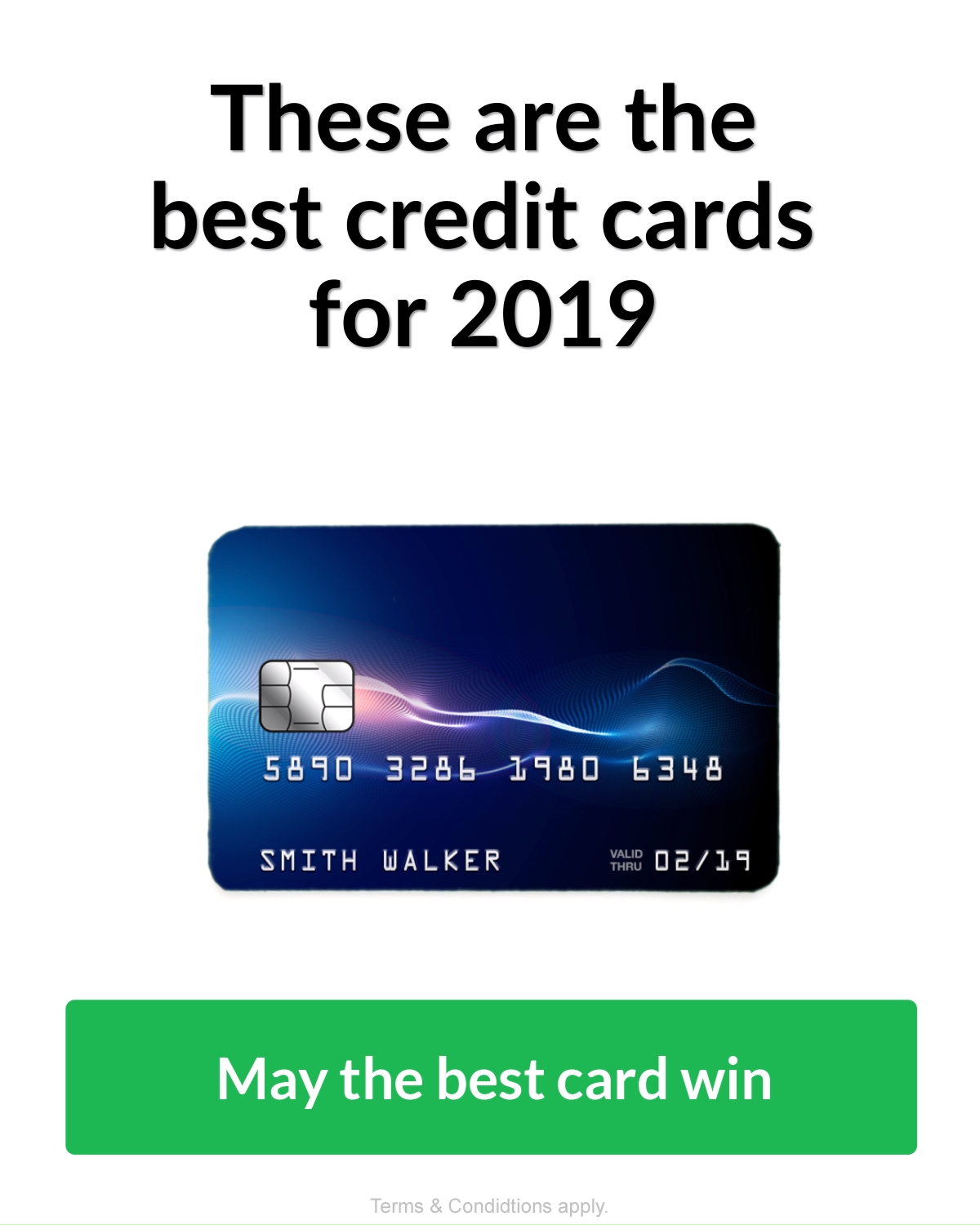 Top 10 Credit Cards Of 2019