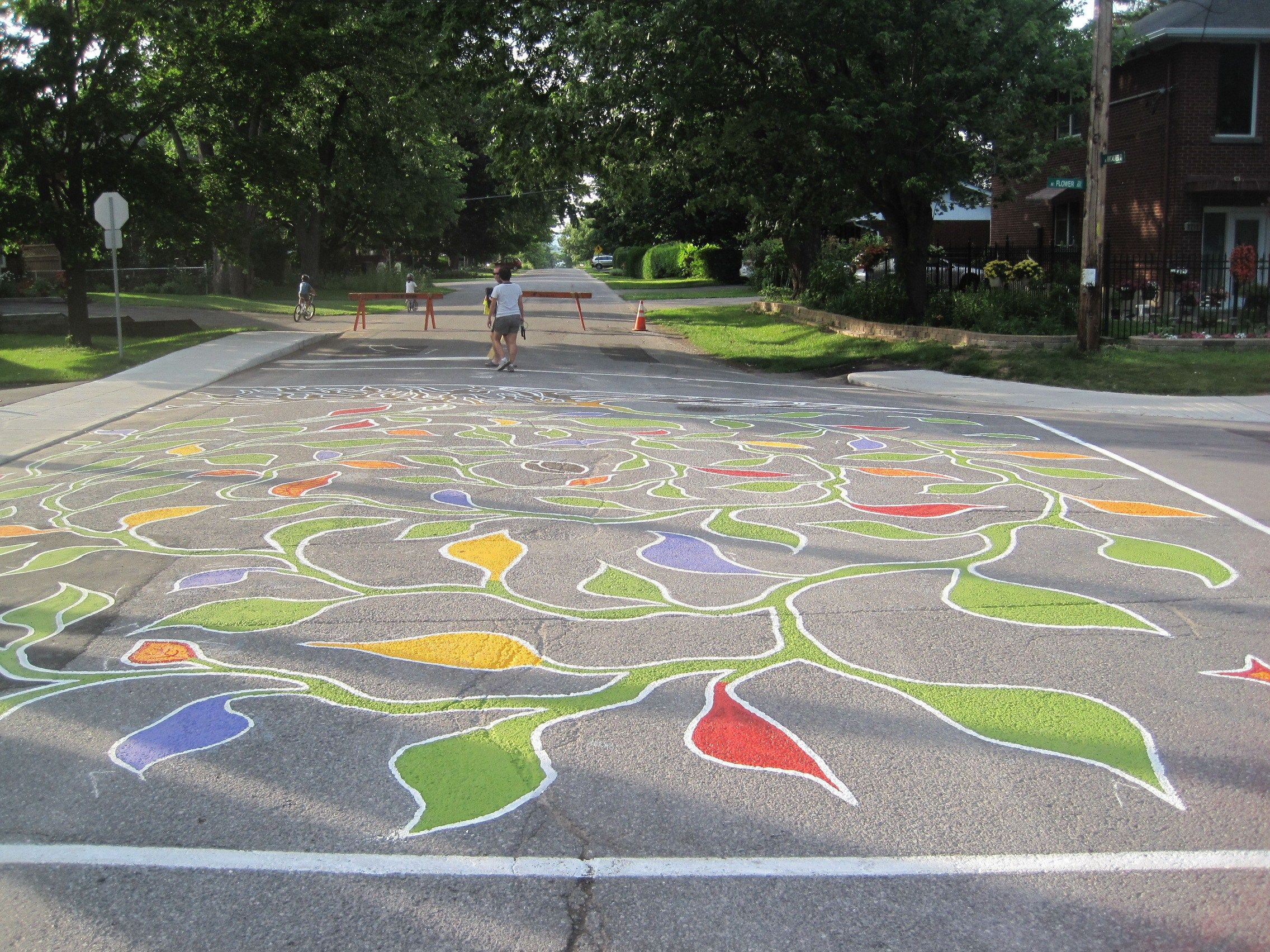 Image Result For Street Painting Intersection Street Painting Street Mural Street Art