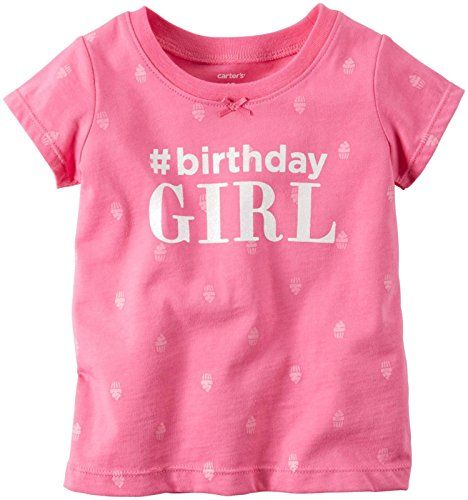 Carters Birthday Tee Pink 12 Months -- Want additional info? Click on the image.