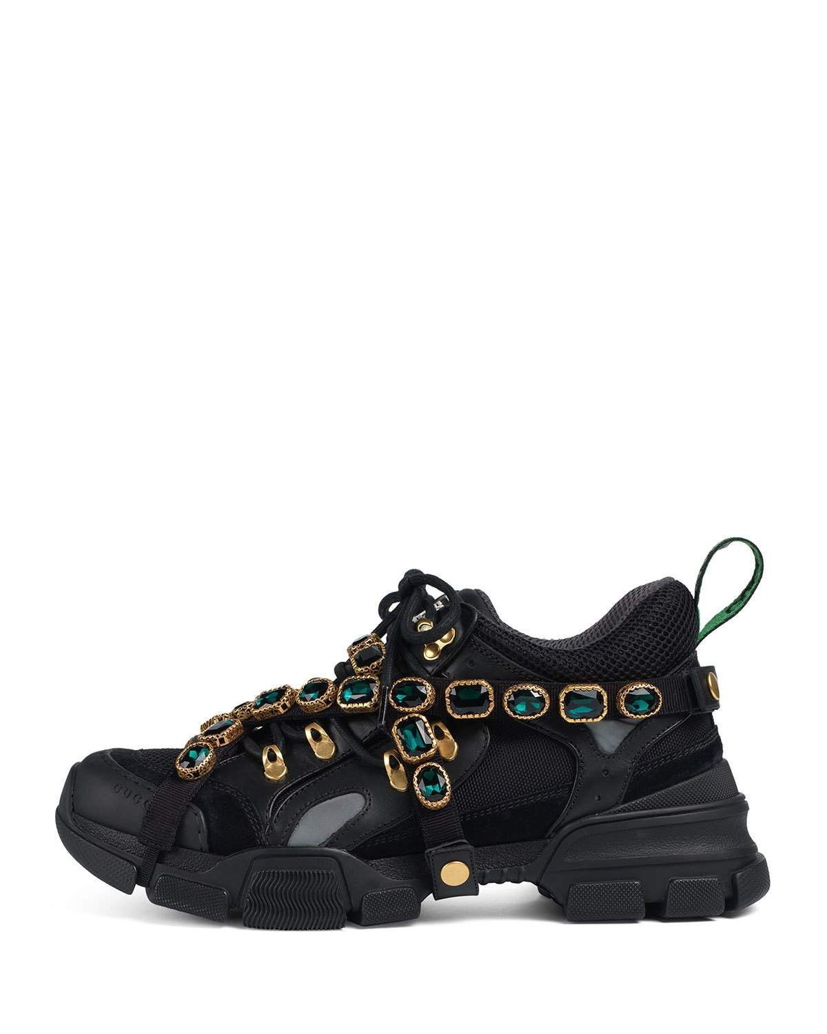 16027a65ca723 Gucci Sneaker with Removable Crystals