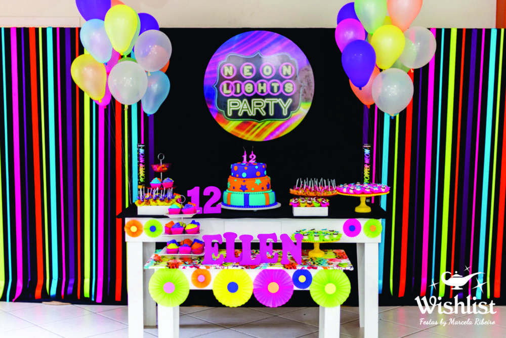 Neon Colors Birthday Party Ideas Neon colors Birthday party ideas