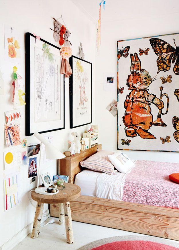 Minimal Bohemian Kidu0027s Bedrooms via Sycamore Street Press kidsroom