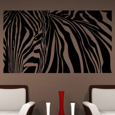 Style And Apply Zebra Stripes Wall Decal Size H X W - Zebra stripe wall decals