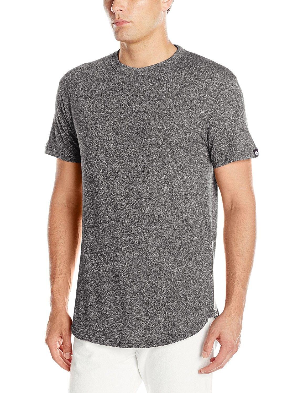 273531f8fa77 Men's Basic Short Sleeve Scallop Long Length Tee with Side Zippers - Marled  Black - C512FJHKIQB,Men's Clothing, T-Shirts & Tanks, T-Shirts #men  #fashion ...