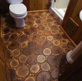 tree slices flooring